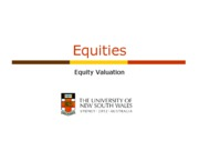 week 07 Equity Valuation