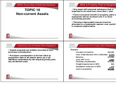 Topic 10B Non-Current Assets 2015 (1)