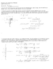 Exam 1 Solution Spring 2010 on Mechanics of Materials
