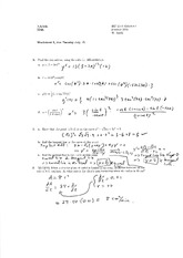 Worksheet 5 Solution on Calculus 1