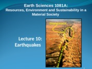 Earthquakes 10