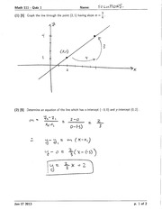 Math 111 Quiz 1 Version 2 Solutions