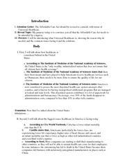 Universal health care essay