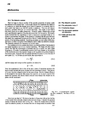 Feynman Physics Lectures V2 Ch10 1962-11-01 Dielectrics