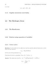 Fund Quantum Mechanics Lect & HW Solutions 60