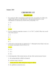 Answer Key Exam 2