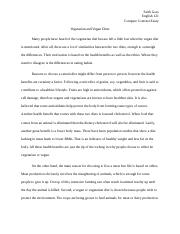Vegetarian and Vegan Diets - Compare Contrast Essay.docx