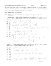 Spring 2011 Exam 3 Solutions