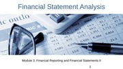 Module 3 Financial Reporting and Financial Statements II