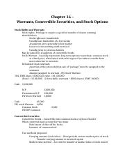 Chapter 16 – Warrants, Convertible Securities, and Stock Options.docx