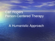 Person Centered Therapy for students