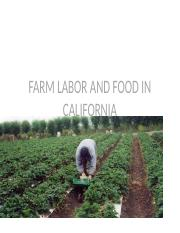 Farm Labor and Food in CA - Powerpoint Reading