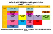 UMBC SUMMER 2014 Group Fitness Schedule