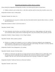 Variable Worksheet.doc - Independent and dependent variables ...