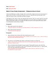Chapter 3 Case Study Assignement Healthcare Law & Ethics.docx