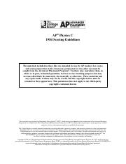 1984 AP Test Scoring Guidelines Question 1