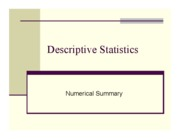 Numerical Stats