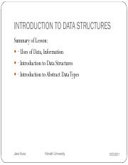 chapter 1-introduction to data structures
