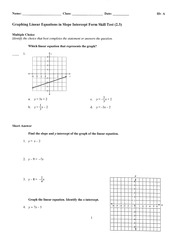 Graphing Linear Test