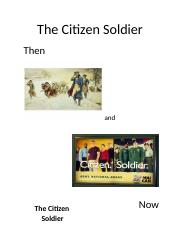 Citizen Soldier and Library Tour Project  2016
