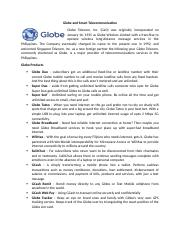 Globe and Smart Telecommunication written report.docx