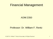 Chapter 07 Financial Management