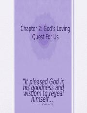 Essentials Chapter 2 - Gods Loving Quest For Us