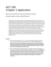Chapter 1 application