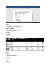 manual calculation of r