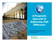 Pragmatic Approach in Addressing Fiqh Differences