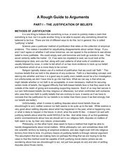 The Justification of Beliefs Class Notes