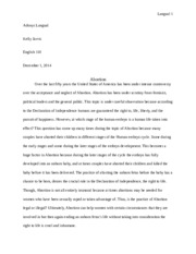 Abortion Essay- Resource Paper.docx