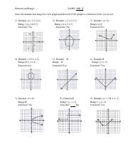 domain and range of graphs practice worksheet ANSWERS.pdf ...