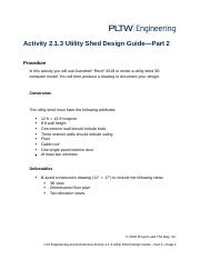 2 1 3a A Utilitysheddesign Part 1 2016 Docx Activity 2 1 3 Utility Shed Design Guide U2014part 1 Procedure In This Activity You Will Use Autodesk U00ae Course Hero
