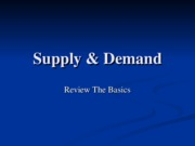 Session _4 Supply & Demand