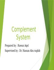 Complement System (RAWAN)