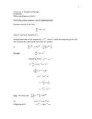 UTT MATH1001 Week 2 Notes