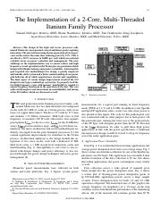 The implementation of a 2-core, multi-threaded itanium family processor
