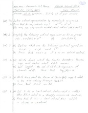 Exam 2 Solution Spring 2004 on Axiomatic Set Theory