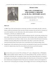NHC- The Life Experiences and Gospel Labours of Richard Allen 1833.pdf