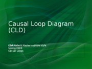 EGR 410 Lecture 6 SS 09 Causal Loop Diagrams