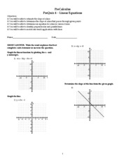 Quiz 4 - (Prequiz) Linear Equations