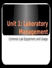 Lab Equipment and Usage