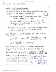 Newton's Law of Gravitation Notes