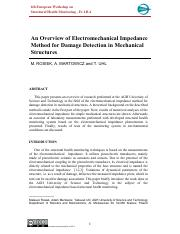 An overview of electomechanical impedance.pdf