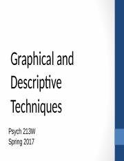 10 - Graphical and Descriptive Techniques