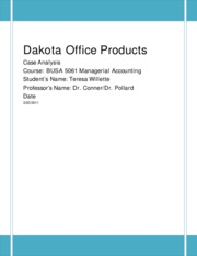 dakota office products case summary