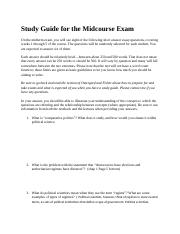 Study Guide for the Midcourse Exam.docx