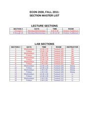 Econ_2030_Section_Master_List_Fall_2011
