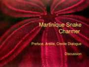 Martinique Commentaries